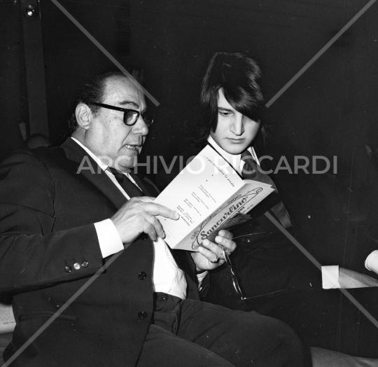 De Sica Cristian con Mario Verdone 1971-096