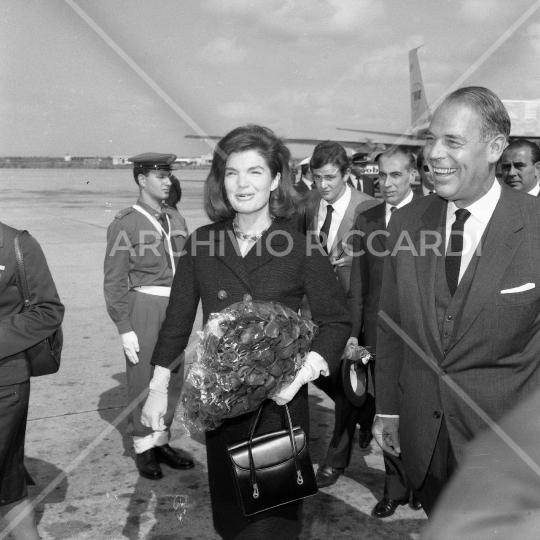 Jacqueline Kennedy - 1966 - aeroporto di Fiumicino - 26