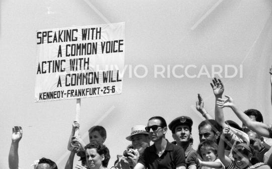 John Fitzgerald Kennedy - 1963 - visita Roma - 1 Luglio - 28