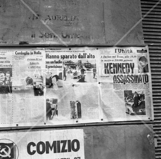 Prima pagina Unità -1963 - Omicidio Kennedy - 48