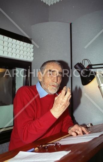 Vittorio Gassman - 1996 - 289 - Sala di doppiaggio