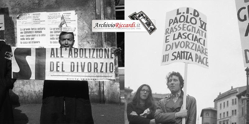 Manifestazioni Referendum Divorzio